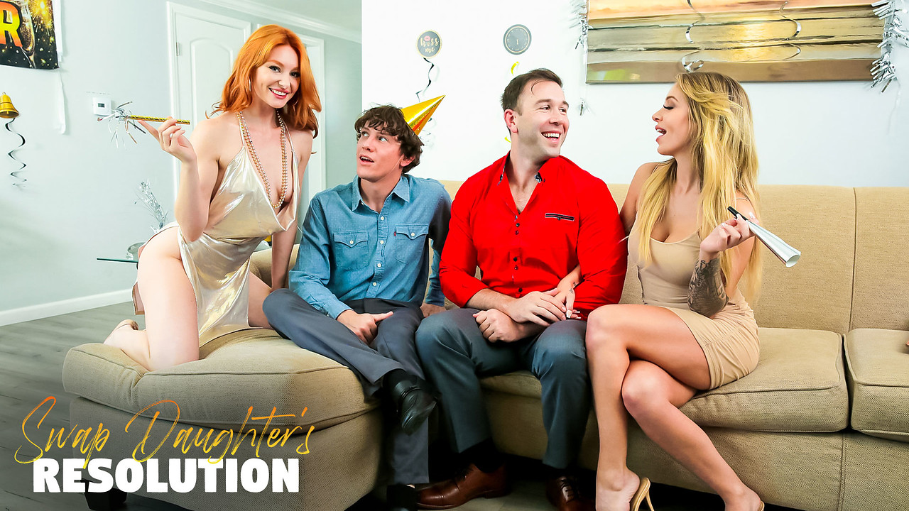 FamilySwap - Lacy Lennon - Madelyn Monroe - Swap Daughters New Years Resolution